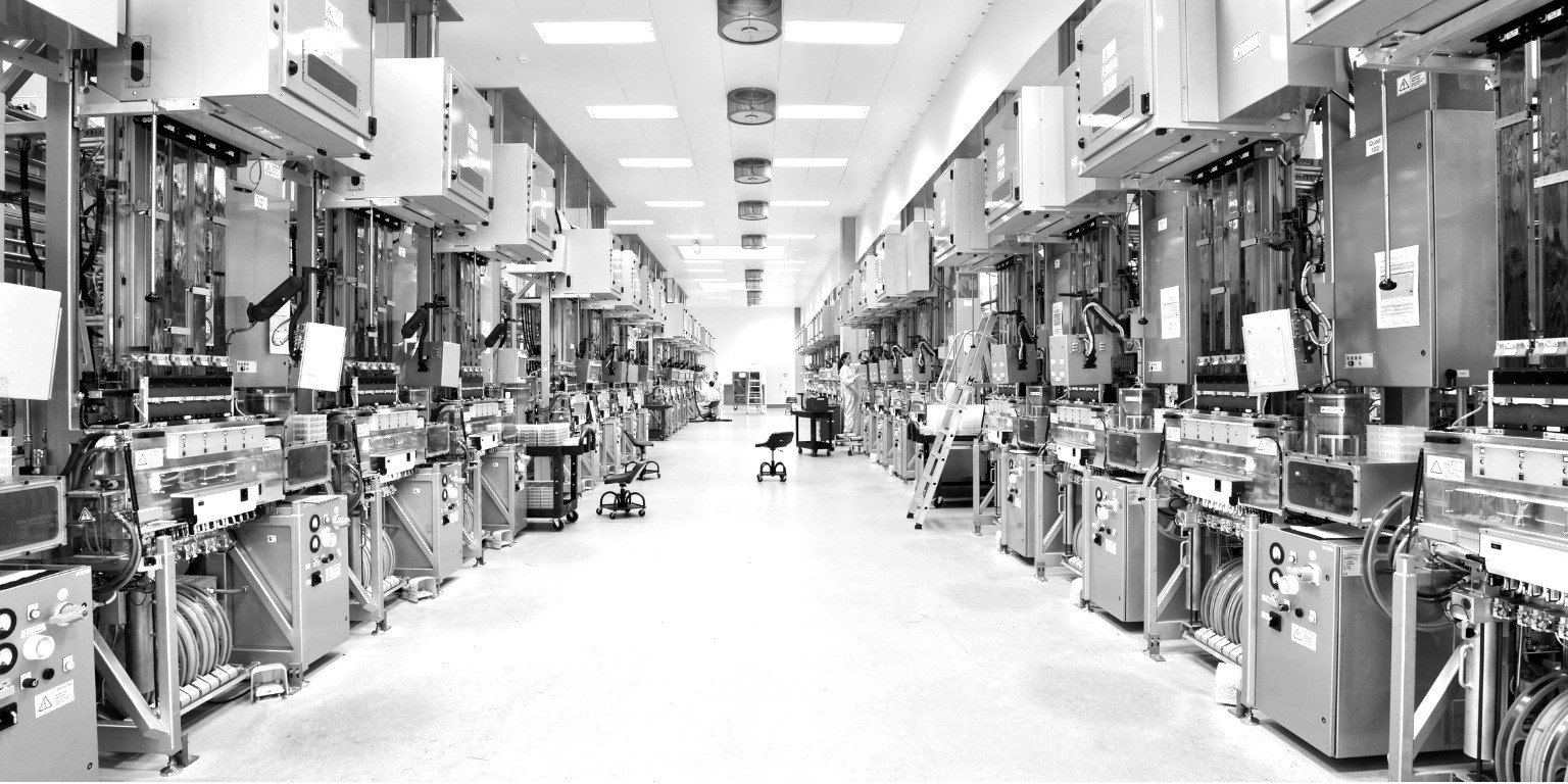 Worker on manufacturing factory floor